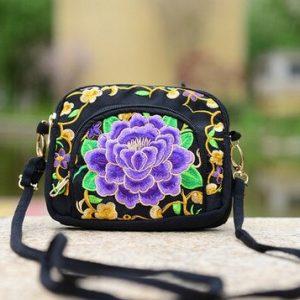 petit sac ethnique violet