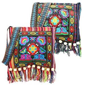 Sac bandoulière tissu ethnique