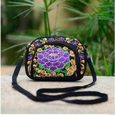 Petit sac bandoulière ethnique violet