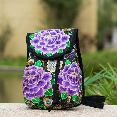 Petit sac a dos ethnique violet