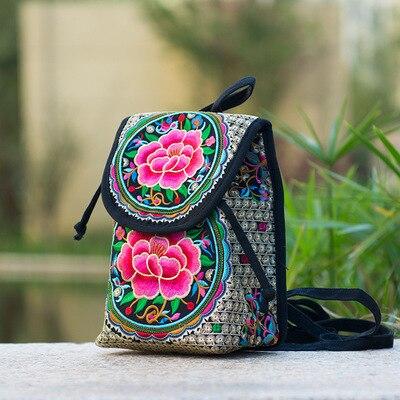 Petit sac a dos ethnique fleur